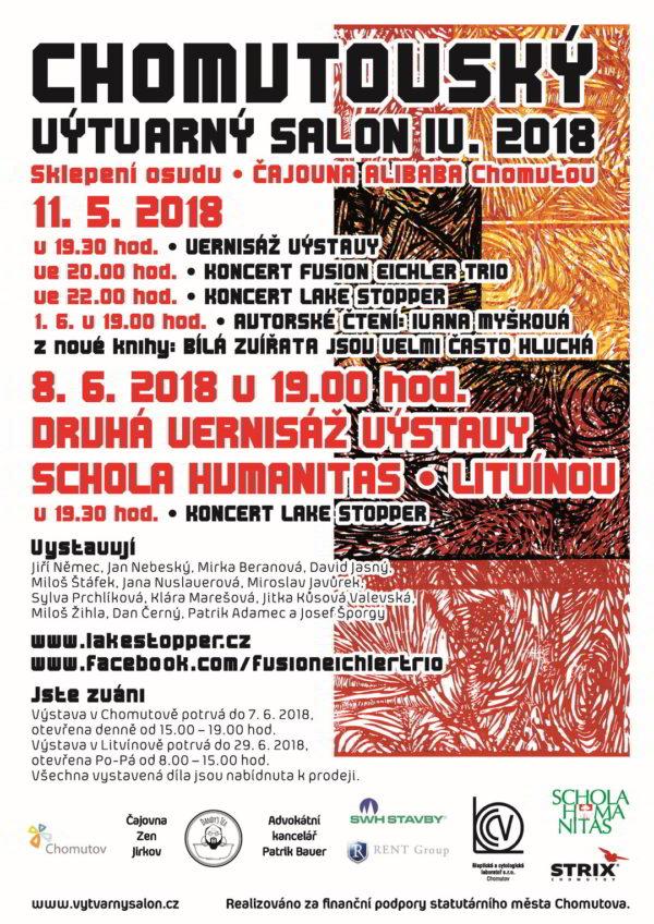 Chomutovský výtvarná salon, plakát 2018